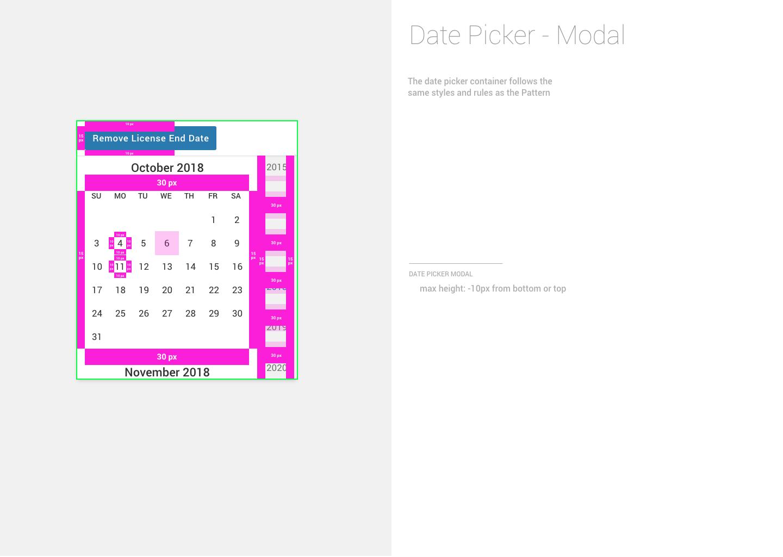3 – Date Picker – Modal 3.0